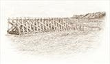 Maryport Harbour by Michelle Graham, Drawing, Pen on Paper