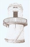 St Bees Lighthouse by Michelle Graham, Drawing, Pen on Paper