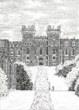 windsor Castle by Michelle Graham, Drawing, Pen on Paper
